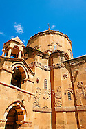 10th century Armenian Orthodox Cathedral of the Holy Cross on Akdamar Island, Lake Van Turkey 92 .<br /> <br /> If you prefer to buy from our ALAMY PHOTO LIBRARY  Collection visit : https://www.alamy.com/portfolio/paul-williams-funkystock/lakevanturkey.html<br /> <br /> Visit our TURKEY PHOTO COLLECTIONS for more photos to download or buy as wall art prints https://funkystock.photoshelter.com/gallery-collection/3f-Pictures-of-Turkey-Turkey-Photos-Images-Fotos/C0000U.hJWkZxAbg