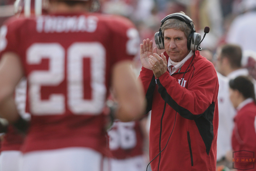 21 November 2009: Indiana coach Bill Lynch as the Indiana Hoosiers played the Purdue Boilermakers in a college football game in Bloomington, Ind.