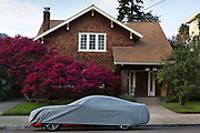 Covered cars, in Berkley an affluent suburb of San Francisco, California