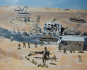 A diorama at the El Alamein Military Museum.