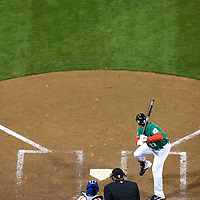 15 March 2009: #23 Adrian Gonzalez of Mexico is seen at bat during the 2009 World Baseball Classic Pool 1 game 2 at Petco Park in San Diego, California, USA. Korea wins 8-2 over Mexico.