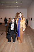 MIA GOLDARACENE; VICTORIA GOLDARACENE, Gabriel Orozco reception, Tate Modern, London. 18 January 2010. .-DO NOT ARCHIVE-© Copyright Photograph by Dafydd Jones. 248 Clapham Rd. London SW9 0PZ. Tel 0207 820 0771. www.dafjones.com.