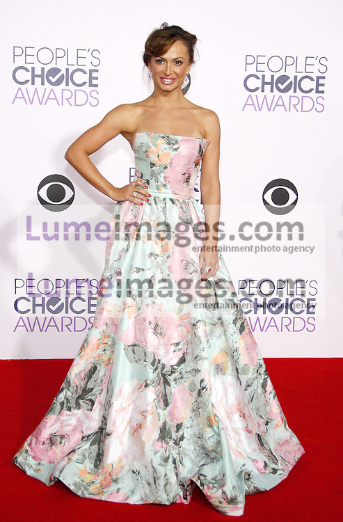 Karina Smirnoff at the 41st Annual People's Choice Awards held at the Nokia L.A. Live Theatre in Los Angeles on January 7, 2015. Credit: Lumeimages.com