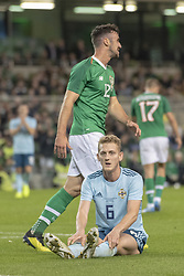 November 15, 2018 - Dublin, Ireland - George Seville of N.Ireland during the International Friendly match between Republic of Ireland and Northern Ireland at Aviva Stadium in Dublin, Ireland on November 15, 2018  (Credit Image: © Andrew Surma/NurPhoto via ZUMA Press)