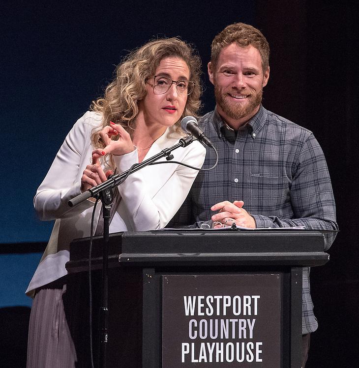 Photography ©Mara Lavitt<br /> June 11, 2018<br /> <br /> The 28th Annual Connecticut Critics Circle Awards, Westport Country Playhouse: hosts Jenn Harris and Matt Wilkas.