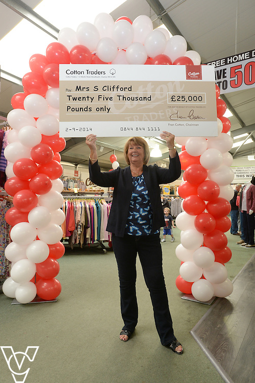 Sandra Clifford, pictured, has won £25,000 in Cotton Trader's annual competition.<br /> <br /> Picture: Chris Vaughan/Chris Vaughan Photography<br /> Date: September 2, 2014