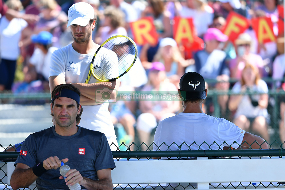 March 7, 2019 - Indian Wells, USA - Rafael Nadal (Esp) and Roger Federer  (Credit Image: © Panoramic via ZUMA Press)