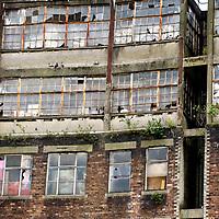 Derelict building near Bridge Street in Glasgow