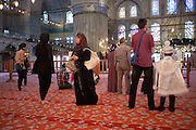 The Sultan Ahmed Mosque in Istanbul, popularly known as the Blue Mosque for the blue tiles adorning the walls of its interior..It was built from 1609 to 1616, during the rule of Ahmed I and while still used as a mosque it has also become a popular tourist attraction...Istanbul 7 June 2012