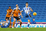 Brighton central midfielder, Beram Kayal (7) during the Sky Bet Championship match between Brighton and Hove Albion and Wolverhampton Wanderers at the American Express Community Stadium, Brighton and Hove, England on 1 January 2016. Photo by Phil Duncan.