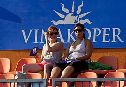 Barbara Fabjan and Maja Mastnak at 2nd Round of Singles at Banka Koper Slovenia Open WTA Tour tennis tournament, on July 22, 2010 in Portoroz / Portorose, Slovenia. (Photo by Vid Ponikvar / Sportida)