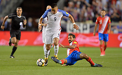 September 1, 2017 - Harrison, NJ, USA - Harrison, N.J. - Friday September 01, 2017:  Bobby Wood during a 2017 FIFA World Cup Qualifying (WCQ) round match between the men's national teams of the United States (USA) and Costa Rica (CRC) at Red Bull Arena. (Credit Image: © John Todd/ISIPhotos via ZUMA Wire)