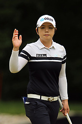 May 26, 2018 - Ann Arbor, Michigan, United States - Eun-Hee Ji of Korea reacts after making her putt on the 6th green during the third round of the LPGA Volvik Championship at Travis Pointe Country Club, Ann Arbor, MI, USA Saturday, May 26, 2018. (Credit Image: © Amy Lemus/NurPhoto via ZUMA Press)
