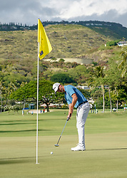 January 11, 2019 - Honolulu, HI, U.S. - HONOLULU, HI - JANUARY 11: Brett Snedeker putts on the 13th hole during the second round of the Sony Open at the Waialae Country Club in Honolulu, HI. (Photo by Darryl Oumi/Icon Sportswire) (Credit Image: © Darryl Oumi/Icon SMI via ZUMA Press)
