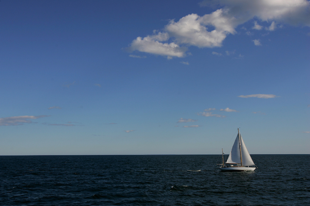 Vinalhaven, Maine 2007: .Open water on the ferry from Rockland