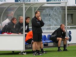 FODBOLD: Cheftræner Brian Chrøis (Allerød) på sidelinien under kampen i Danmarksserien, pulje 1, mellem Elite 3000 Helsingør og Allerød FK den 7. september 2008 på Helsingør Stadion. Foto: Claus Birch