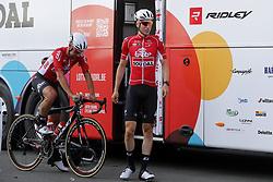July 4, 2018 - Mouilleron Le Captif, France - MOUILLERON-LE-CAPTIF, FRANCE - JULY 4 : KEUKELEIRE Jens  (BEL)  of Lotto Soudal during a team reconnaissance of stage 1 prior the 105th edition of the 2018 Tour de France cycling race, a stage of 201 kms between Noirmoutier-en-l'Ile and Mouilleron-Le-Captif on July 04, 2018 in Mouilleron-Le-Captif, France, 4/07/18 ( Motordriver Kenny Verfaillie - Photo by Jan De Meuleneir / Photonews. (Credit Image: © Panoramic via ZUMA Press)