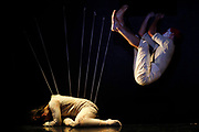 """Dancers perform in """"Bombyx Mori"""" by the Inbal Pinto and Avshalom Pollak Dance Company of Israel during the Malta Arts Festival in Floriana, outside Valletta, July 9, 2012. REUTERS/Darrin Zammit Lupi (MALTA - Tags: ENTERTAINMENT SOCIETY) MALTA OUT. NO COMMERCIAL OR EDITORIAL SALES IN MALTA - GM1E87A0KBM01"""