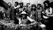 Black Uhuru with Sly and Robbie  at Island Records NY office Fallout Shelter Studio