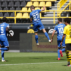 Freude über das 1:0 für Andrej Kramaric (TSG 1899 Hoffenheim, #27); 1. Fussball-Bundesliga; Borussia Dortmund - TSG Hoffenheim am 27.06.2020 im Signal-Iduna-Park in Dormund (Nordrhein-Westfalen). <br /> <br /> FOTO: BEAUTIFUL SPORTS/WUNDERL/POOL/PIX-Sportfotos<br /> <br /> DFL REGULATIONS PROHIBIT ANY USE OF PHOTOGRAPHS AS IMAGE SEQUENCES AND/OR QUASI-VIDEO. <br /> <br /> EDITORIAL USE OLNY.<br /> National and<br /> international NewsAgencies OUT.<br /> <br /> <br /> <br /> Foto © PIX-Sportfotos *** Foto ist honorarpflichtig! *** Auf Anfrage in hoeherer Qualitaet/Aufloesung. Belegexemplar erbeten. Veroeffentlichung ausschliesslich fuer journalistisch-publizistische Zwecke. For editorial use only. DFL regulations prohibit any use of photographs as image sequences and/or quasi-video.