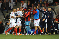 FOOTBALL - FRENCH CHAMPIONSHIP 2010/2011 - L1 - FC LORIENT v LILLE OSC - 24/04/2011 - PHOTO PASCAL ALLEE / DPPI - JOY LILLE PLAYERS AFTER MATHIEU DEBUCHY'S GOAL