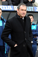 Swansea manager Paul Clement  looks on before the match. Premier league match, Swansea city v Burnley at the Liberty Stadium in Swansea, South Wales on Saturday 4th March 2017.<br /> pic by  Carl Robertson, Andrew Orchard sports photography.