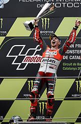 June 17, 2018 - Barcelona, Catalonia, Spain - Jorge Lorenzo (99) of Spain and Ducati Team during the race day of the Gran Premi Monster Energy de Catalunya, Circuit of Catalunya, Montmelo, Spain. 17th June of 2018. (Credit Image: © Jose Breton/NurPhoto via ZUMA Press)