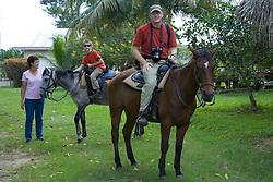 horseback ride through jungle, Stann Creek District, Belize, Central America
