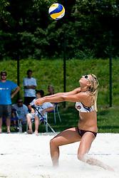 Erika Fabjan at Beachmaster 2010 tournament for Slovenian BeachTour on July 15, 2010, in Ptuj, Slovenia. (Photo by Matic Klansek Velej / Sportida)
