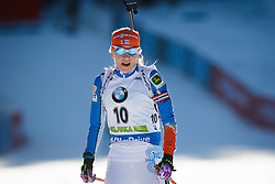 Third placed Kaisa Makarainen (FIN) during Women 10 km Pursuit at day 3 of IBU Biathlon World Cup 2015/16 Pokljuka, on December 19, 2015 in Rudno polje, Pokljuka, Slovenia. Photo by Ziga Zupan / Sportida