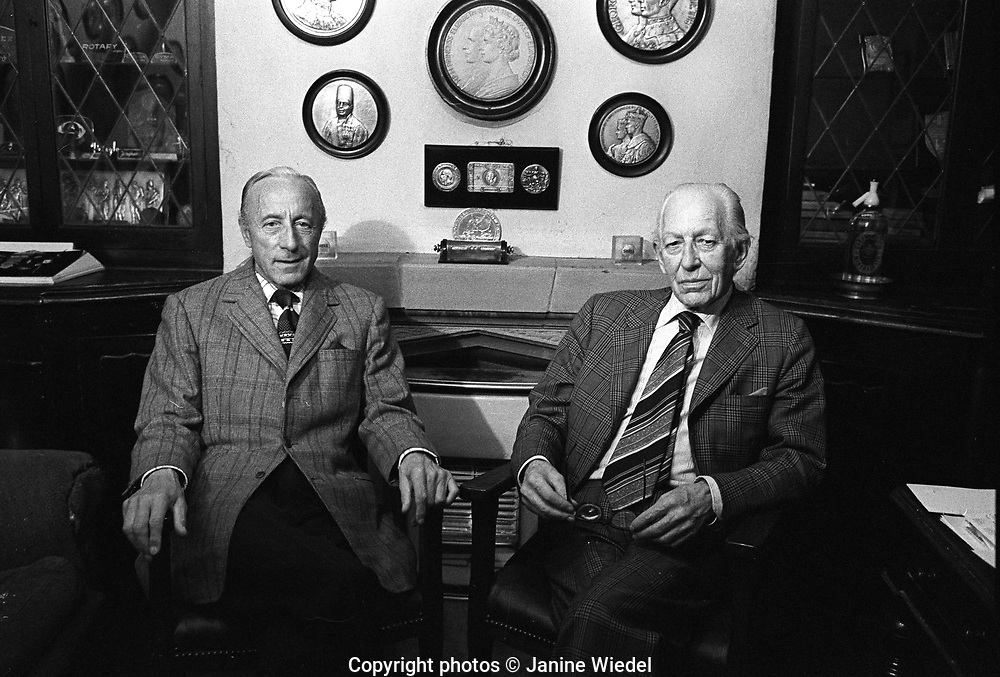 Walter A. Silvester and Harold Stewart Turner at Turner & Simpson Birmingham Medal Company a silversmiths and enamelers in Birmingham's Jewellery Quarter in the 1970s