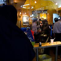 Fast food restaurant in the souk of Teheran.