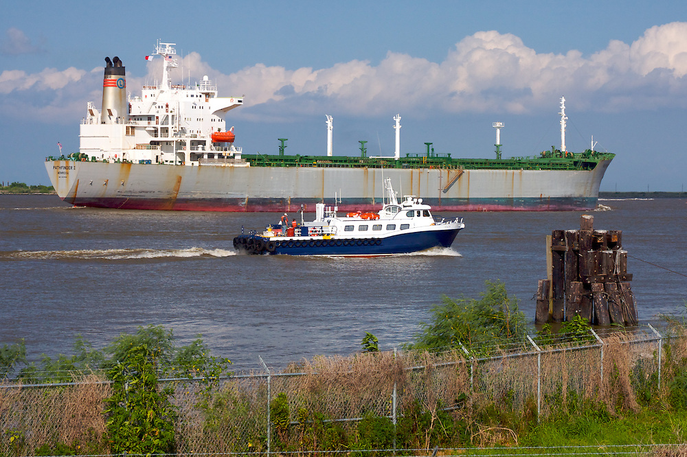Mississippi River, Venice Jump, Plaquemines Parish, Louisiana, USA