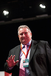 © Licensed to London News Pictures . 28/09/2015 . Brighton , UK . PAUL KENNY , General Secretary of the GMB Union , speaks at the 2015 Labour Party Conference . Photo credit : Joel Goodman/LNP