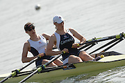 Reading, Great Britain,  GBR W2X, bow, Annie VERNON and Debbie FLOOD,  at the GB Rowing,  2007 World Rowing Championship Team Announcement at the Rowing Training centre, Caversham, ENGLAND 19/07/2007  [Mandatory Credit Peter Spurrier/ Intersport Images] , Rowing course: GB Rowing Training Complex, Redgrave Pinsent Lake, Caversham, Reading