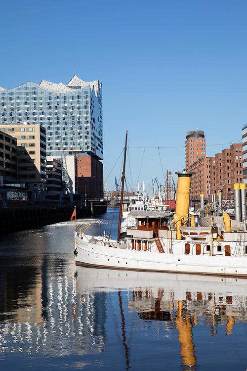 HafenCity in Hamburg, 19. April 2020