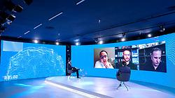 """34ª edição do Fórum da Liberdade. A edição de 2021 irá debater com palestrantes que são autoridades no assunto sobre os impactos das mídias sociais na liberdade de expressão, de forma com que todos os participantes possam refletir, conhecer diferentes pontos de vistas e, ao final do evento, consigam responder ao tema central da edição: """"O digital limita ou liberta?"""". A primeira palestra aborda o tema As mídias sociais vão implodir a democracia? Com João Pereira Coutinho(E), que e Cientista Político, Alexandre Ostrowiecki(C), que é CEO da Multilaser e fundador do portal Ranking dos Políticos, e Murillo de Aragão(D), que é Advogado e presidente da Arko Advice Foto: Marcos Nagelstein/ Agência Preview"""