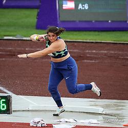 USATF Grand Prix track and field meet<br /> April 24, 2021 Eugene, Oregon, USA<br /> womens shot put, Nike