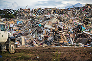Temporary landfill in Baton Rouge, Louisiana taking storm debris from the 1000-year flood that hit Southern Louisana in August.