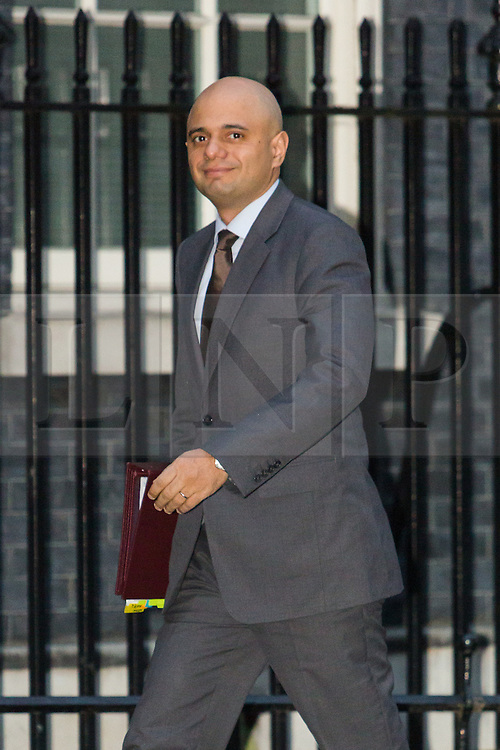 © Licensed to London News Pictures. 15/12/2015. London, UK. SAJID JAVID arrives for a cabinet meeting in Downing Street. Photo credit : Vickie Flores/LNP