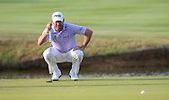 Lee Westwood (ENG) makes par on the last for a round of 73 during Round One of the 2015 Alstom Open de France, played at Le Golf National, Saint-Quentin-En-Yvelines, Paris, France. /03/07/2015/. Picture: Golffile | David Lloyd<br /> <br /> All photos usage must carry mandatory copyright credit (© Golffile | David Lloyd)