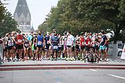 Marathon: Haspa Hamburg 2021, Hamburg, 12.09.2021<br /> Feature, Start<br /> © Torsten Helmke