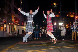 Ricard Burdison and Corey Green from Australia. Edinburgh's Hogmanay 2019