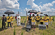 Sharon Lavigne speaking at the Juneteenth ceremony at the site of a former burial ground for enslaved African Americans on the site where Formosa plans to build a petrochemical complex