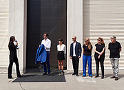 """FREESPACE - 16th Venice Architecture Biennale. Austria, """"Thoughts Form Matter"""". Opening ceremony. Curator Verena Konrad (l.) introducing the participants."""