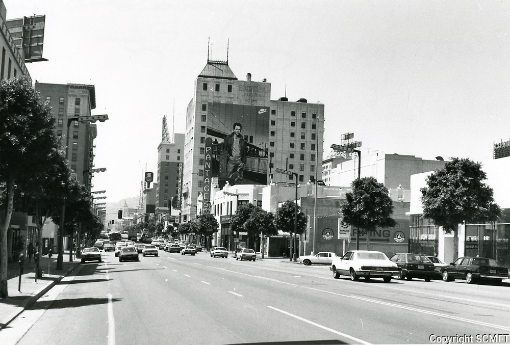 1987 Looking west from Hollywood Blvd. & Gower St.