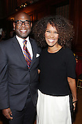NEW YORK, NY-October 5: (L-R) Ryan Tarpley, Creative Artists Agency (CAA) and Television Producer Mara Brock Akil attend the ColorOfChange.org's 10th Anniversary Gala held at Gotham Hall on October 5, 2015 in New York City.  Terrence Jennings/terrencejennings.com