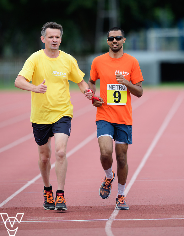 Event: 1500 meters<br /> Competitors, from left: Naqi Rizvi<br /> <br /> Metro Blind Sport's 42nd Athletics Open, held at Mile End Stadium, Tower Hamlets, London.<br /> <br /> Picture: Chris Vaughan Photography for Metro Blind Sports<br /> Date: June 16, 2018