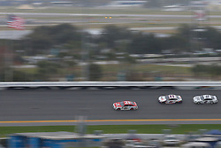 February 10, 2019 - Daytona, FL, U.S. - DAYTONA, FL - FEBRUARY 10: Paul Menard, driver of the #21 Motorcraft/Quick Lane Ford, leads Denny Hamlin, driver of the #11 FedEx Express Toyota, and Brad Keselowski, driver of the #2 Miller Lite Ford, during the Advance Auto Parts Clash on February 10, 2019 at Daytona International Speedway in Daytona Beach, FL. (Photo by David Rosenblum/Icon Sportswire) (Credit Image: © David Rosenblum/Icon SMI via ZUMA Press)