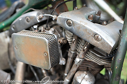A Love Cycle's Jeremiah Armenta bike at the Born Free Motorcycle Show (BF11) at Oak Canyon Ranch, Silverado  CA, USA. Saturday, June 22, 2019. Photography ©2019 Michael Lichter.